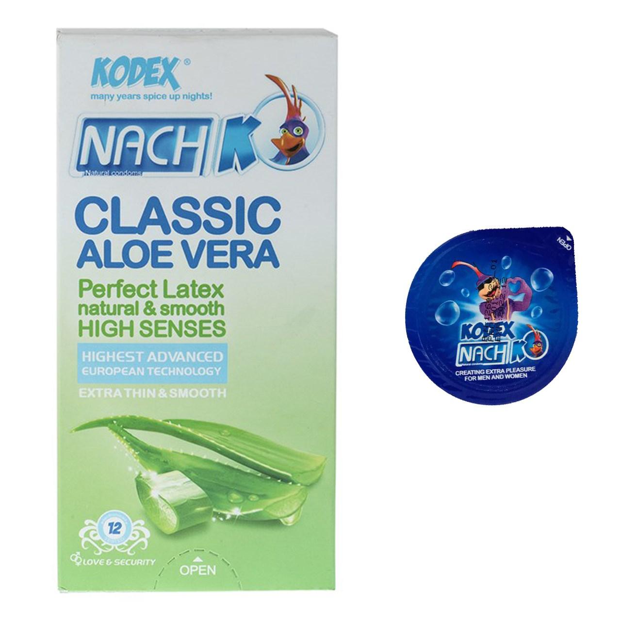 خرید                      کاندوم نازک مدل بلیسر کدکس به همراه یک بسته کدکس مدل Classic Aloe Vera بسته 12 عددی
