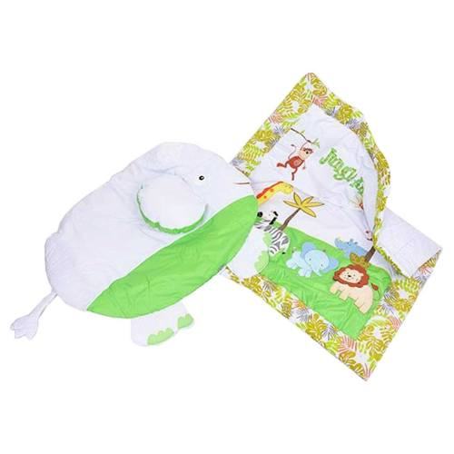 سرویس 2 تکه خواب نوزاد و کودک وان بای وان مدل P01 کتان و نخ پنبه