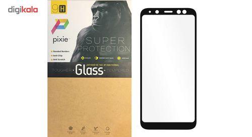 محافظ صفحه نمایش شیشه ای پیکسی مدل 5D  مناسب برای گوشی سامسونگ Galaxy A6 Plus 2018