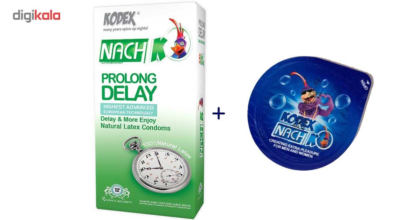 کاندوم نازک مدل بلیسر کدکس به همراه یک بسته کدکس مدل Prolong Delay بسته 12 عددی main 1 1