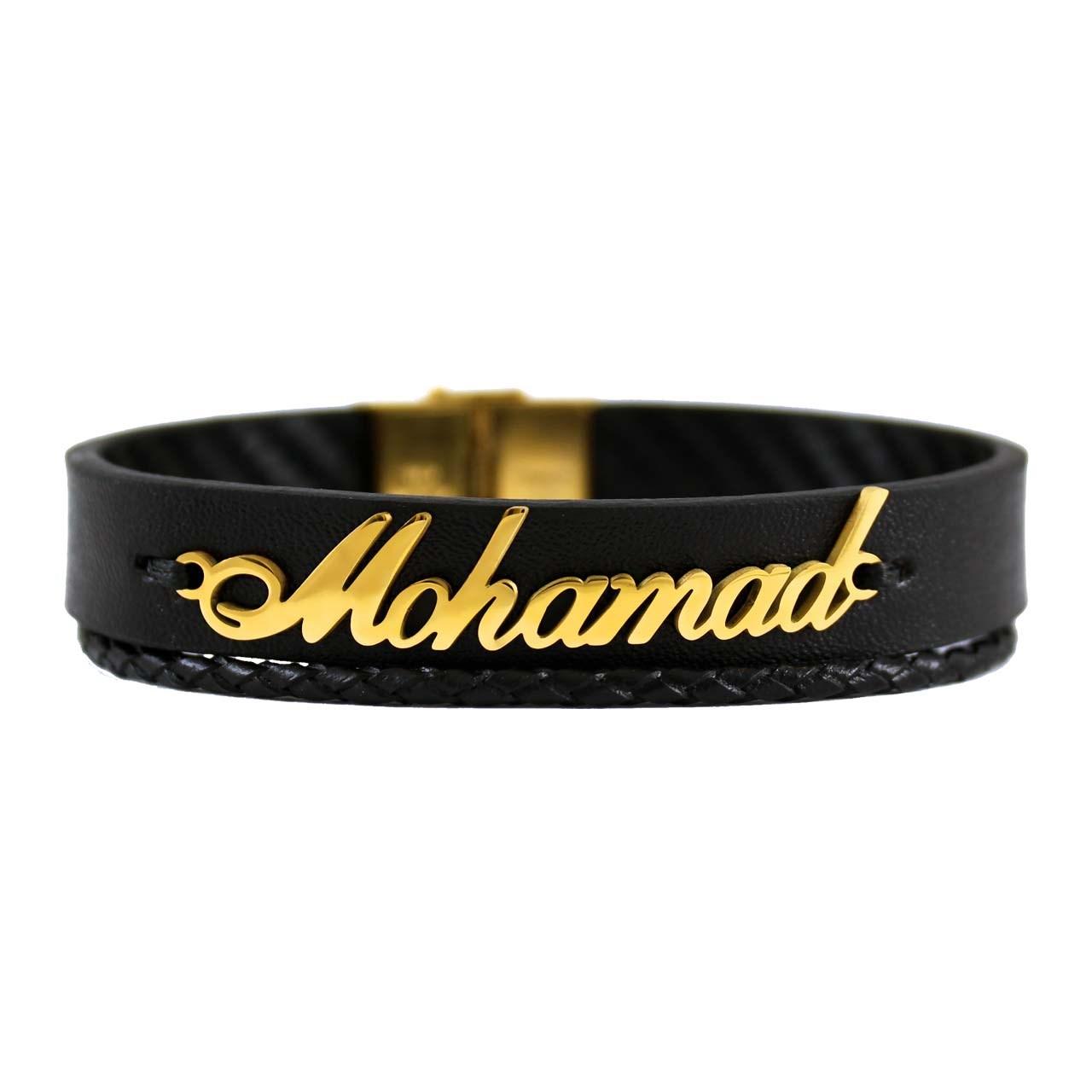 دستبند جنیکا اسم محمد مدل D02