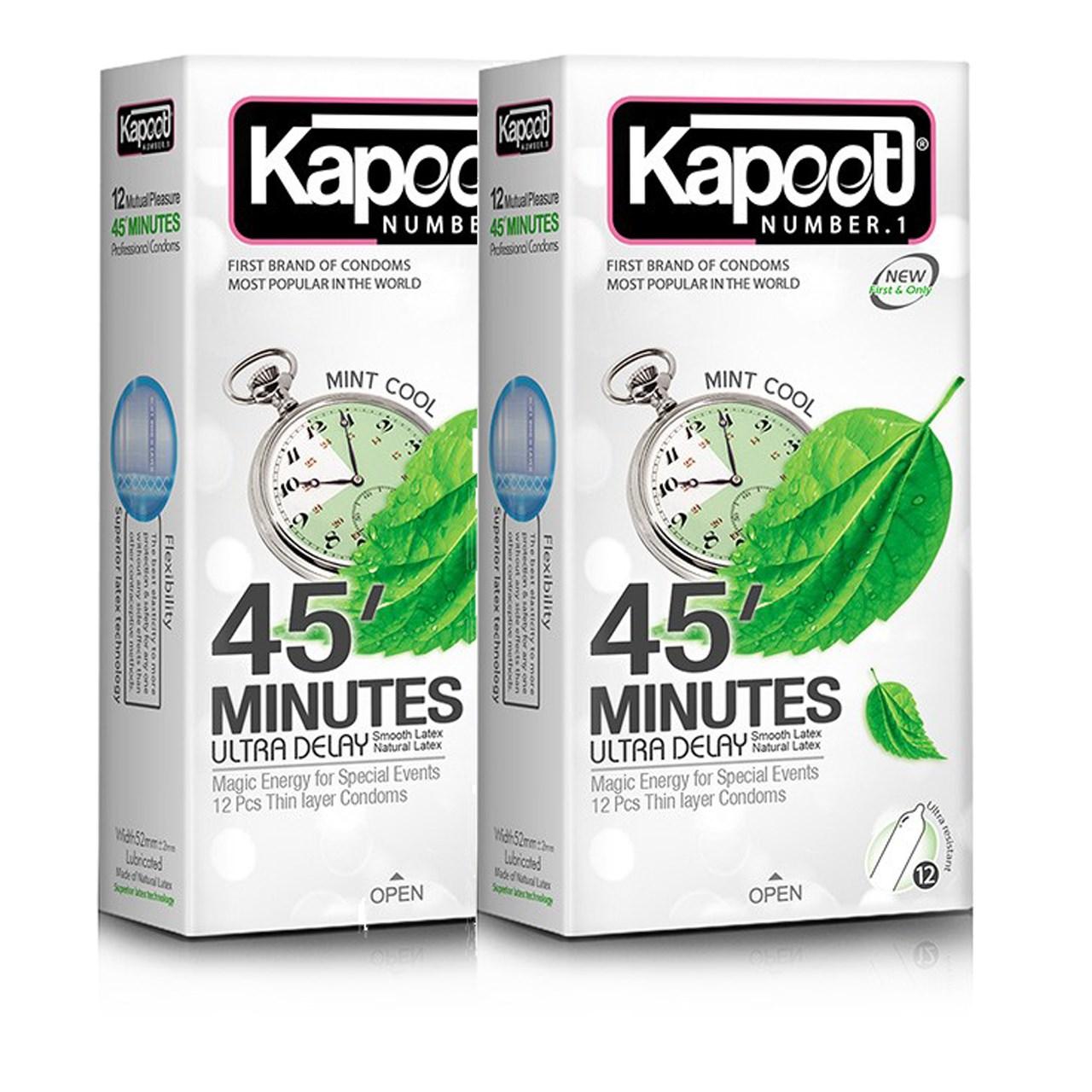 عکس کاندوم کاپوت مدل 45 Minutes دو بسته 12 عددی