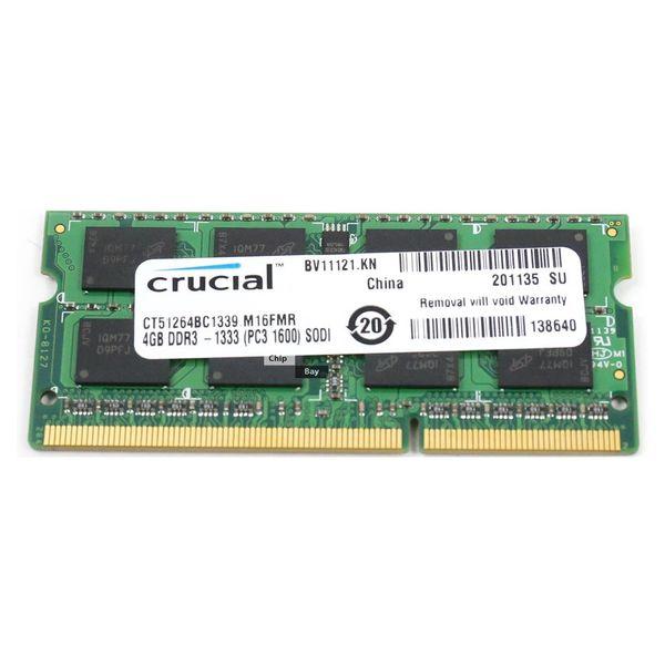 رم لپ تاپ کروشیال مدل 1333 DDR3 PC3 10600s MHz ظرفیت 4گیگابایت | Crucial DDR3 PC3 10600s MHz 1333 RAM - 4GB