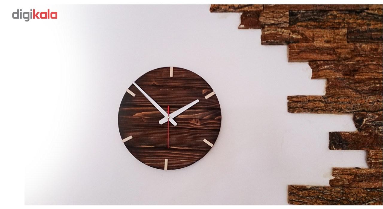 خرید                      ساعت دیواری چوبی کد 03