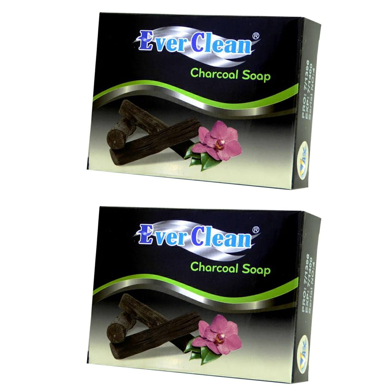 خرید                      صابون زغالی اورکلین مدل  Charcoal مجموعه 2 عددی حجم 70 گرم