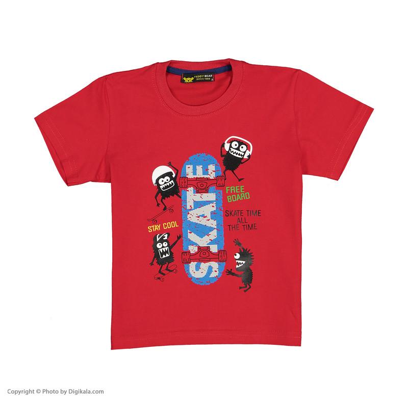 ست تی شرت و شلوارک پسرانه خرس کوچولو مدل 2011184-72