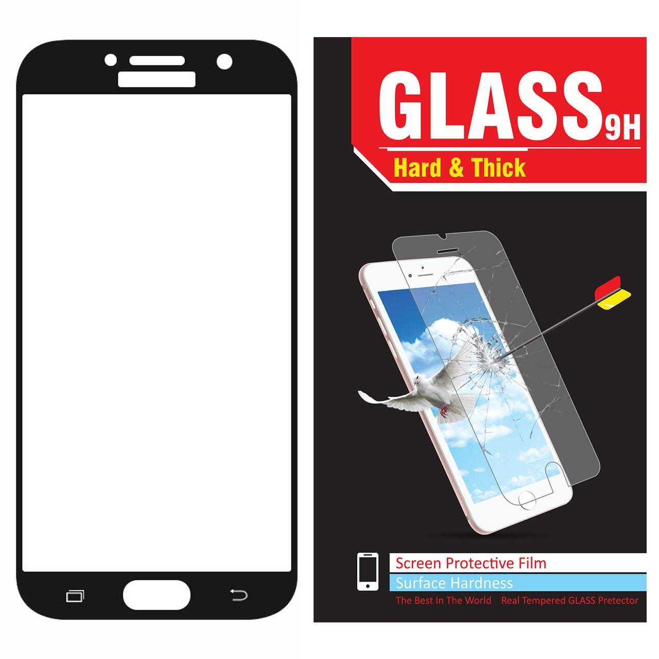 محافظ صفحه نمایش شیشه ای مدل Hard and thick  فول چسب مناسب برای گوشی موبایل سامسونگ A720/A7 2017