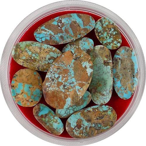 سنگ فیروزه نیشابور تاج گوهر کد TG223 بسته 12 عددی