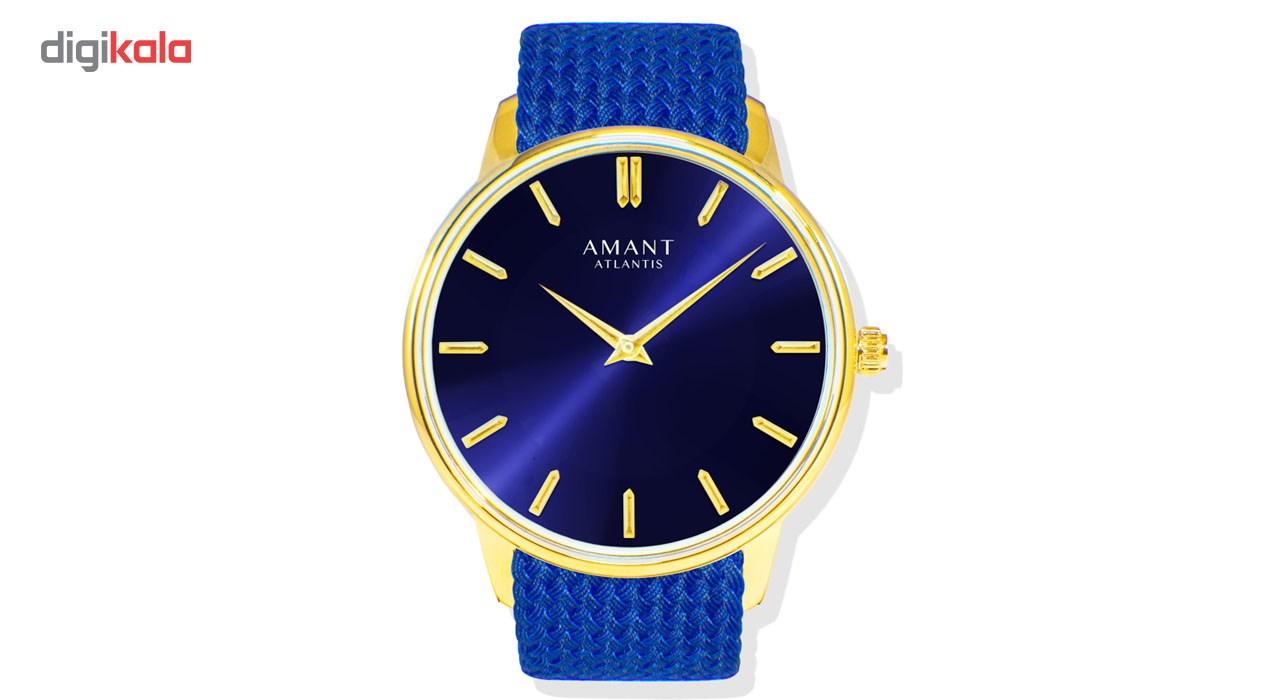 ساعت مچی عقربه ای آمانت مدل Atlantis Perlon