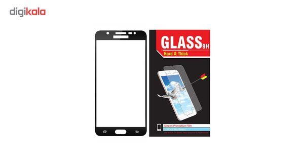 محافظ صفحه نمایش شیشه ای مدل Hard and thick  full cover مناسب برای گوشی موبایل سامسونگ J710/J7 2016
