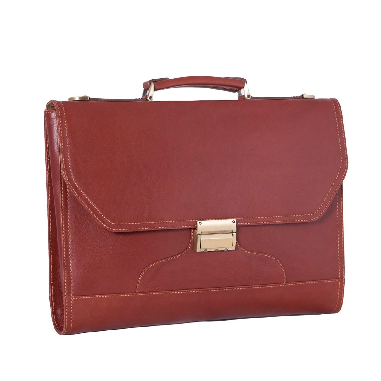 کیف اداری چرم طبیعی آدین چرم مدل DL16