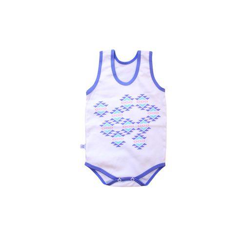 لباس کودک رکابی زیر دکمه دار به آوران طرح هندسی کد 05
