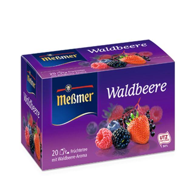 دمنوش آلمانی توت وحشی مسمر مدل Waldbeere بسته 20 عددی
