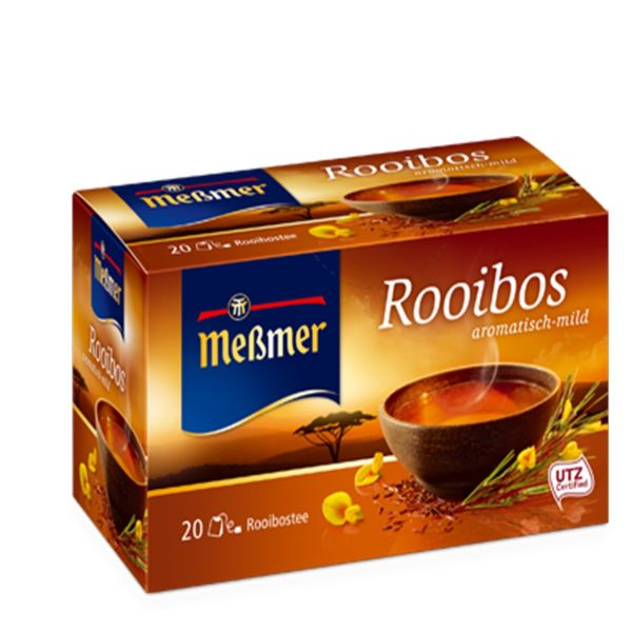 دمنوش آلمانی رویبوس مسمر مدل Rooibos بسته 20 عددی