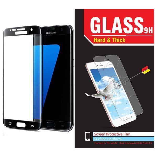 محافظ صفحه نمایش شیشه ای مدل Hard and thick full cover مناسب برای گوشی موبایل سامسونگ S7 Edge