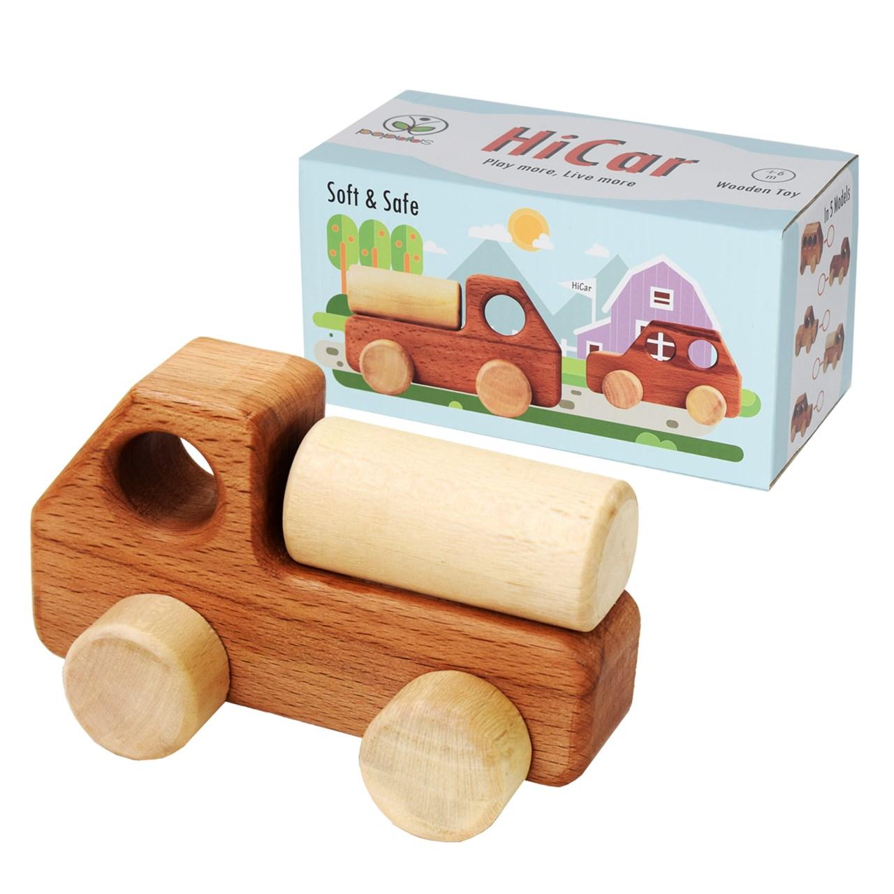 ماشین اسباب بازی چوبی پوپولوس مدل HiCar1