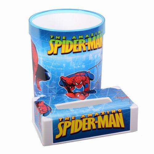 ست سطل و جعبه دستمال  لیمون مدل spider man