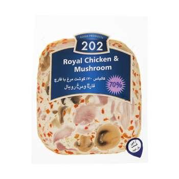 کالباس قارچ و مرغ رویال 70 درصد 202 وزن 300 گرم