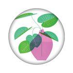 آینه جیبی مدل گیاه کد 759