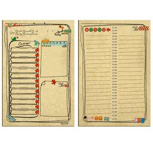 کاغذ یادداشت مستر راد طرح کارهای امروز من کد 1404 بسته 50 عددی