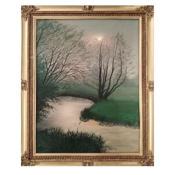 تابلو نقاشی رنگ روغن طرح مه کدekt_29