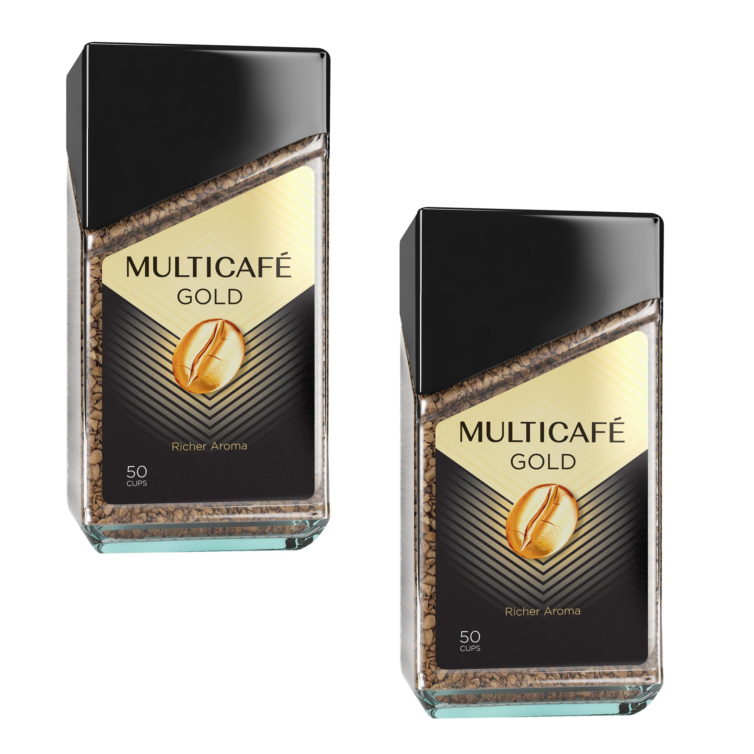 قهوه فوری گلد مولتی کافه - 200 گرم بسته 2 عددی