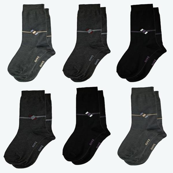 جوراب مردانه زند مدل T T - 0 6 مجموعه 6 عددی