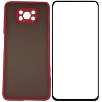 کاور مدل PHSPMG مناسب برای گوشی شیائومی Poco X3 NFC همراه با محافظ صفحه نمایش