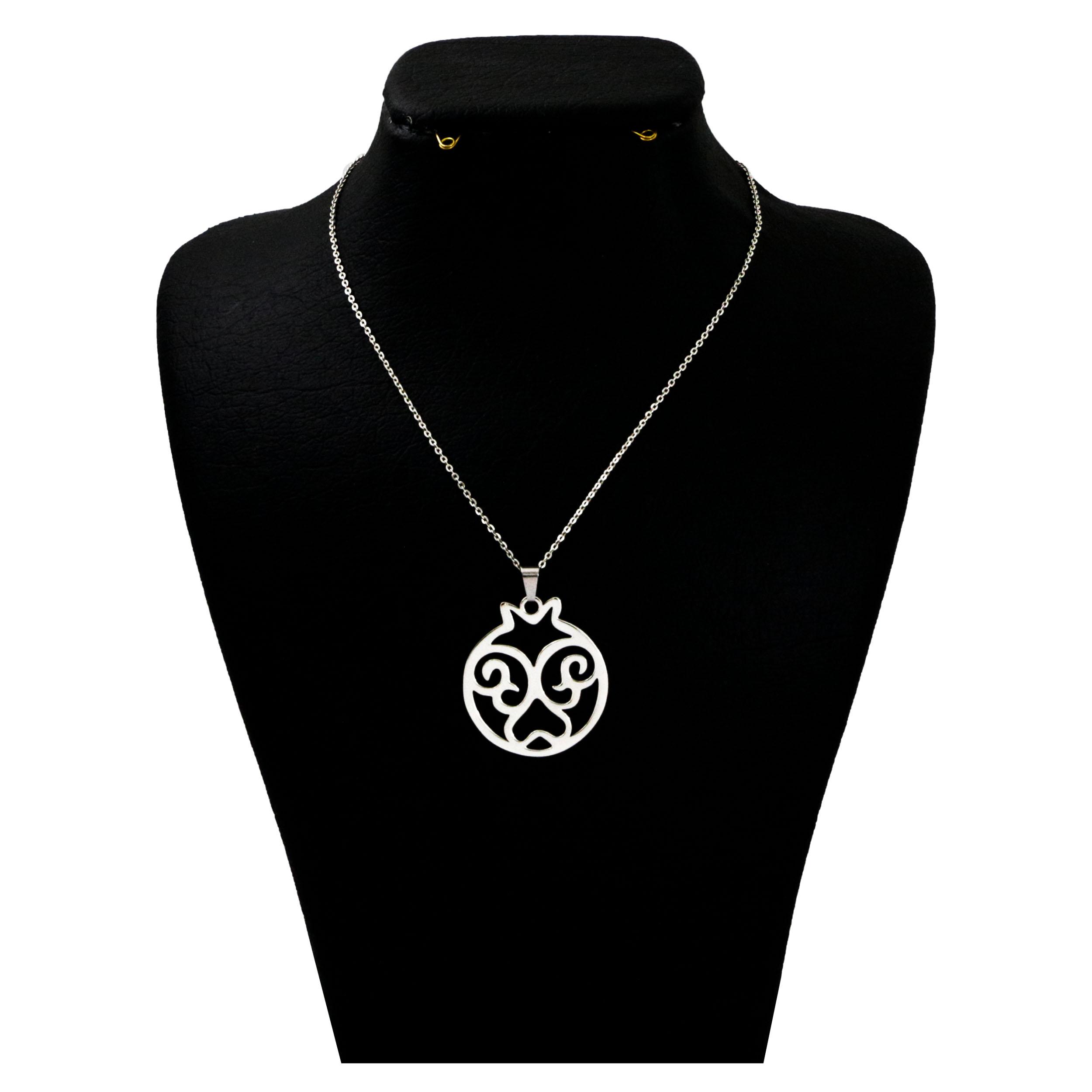 گردنبند نقره زنانه  مدل دلی جم مدل یلدا  کد D 403