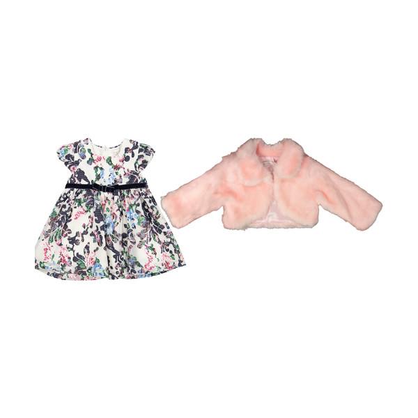 ست پیراهن و کت نوزادی دخترانه مونا رزا مدل 2141198-84