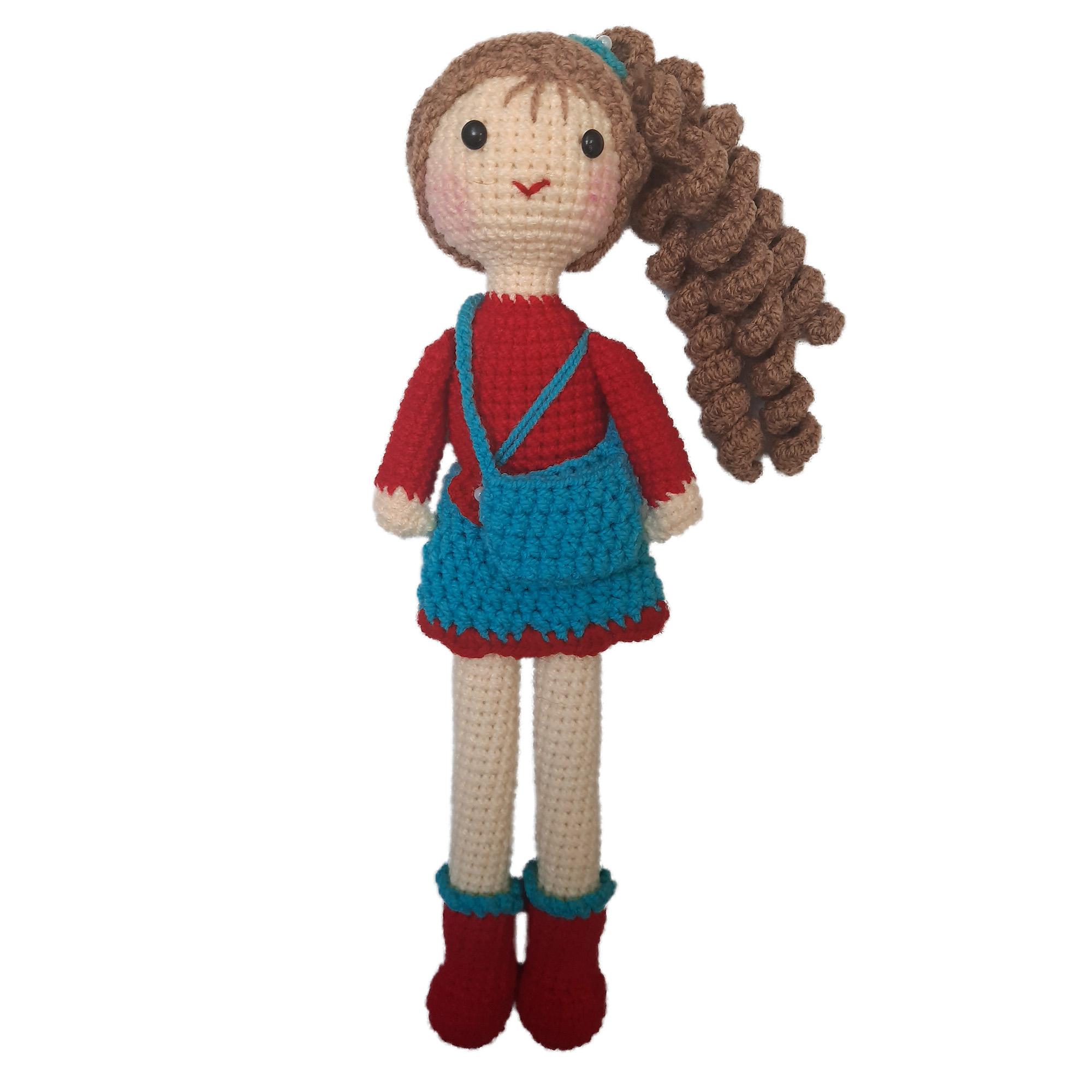 عروسک بافتنی مدل دختر کد 001