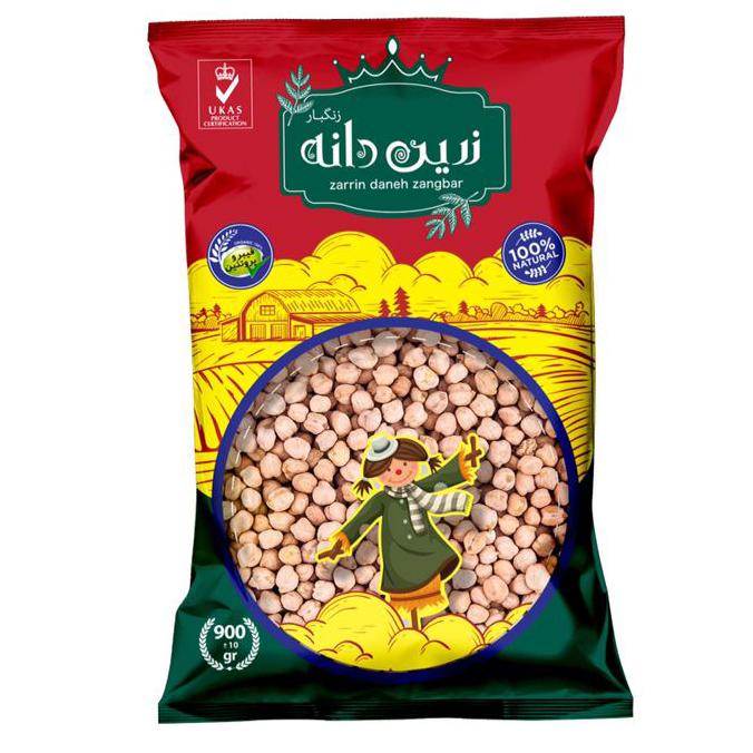 Zarrin daneh zangbar chickpeas- 900 grams