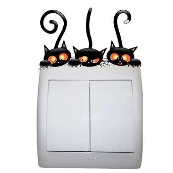 استیکر کلید و پریز مستر راد طرح گربه کد 027
