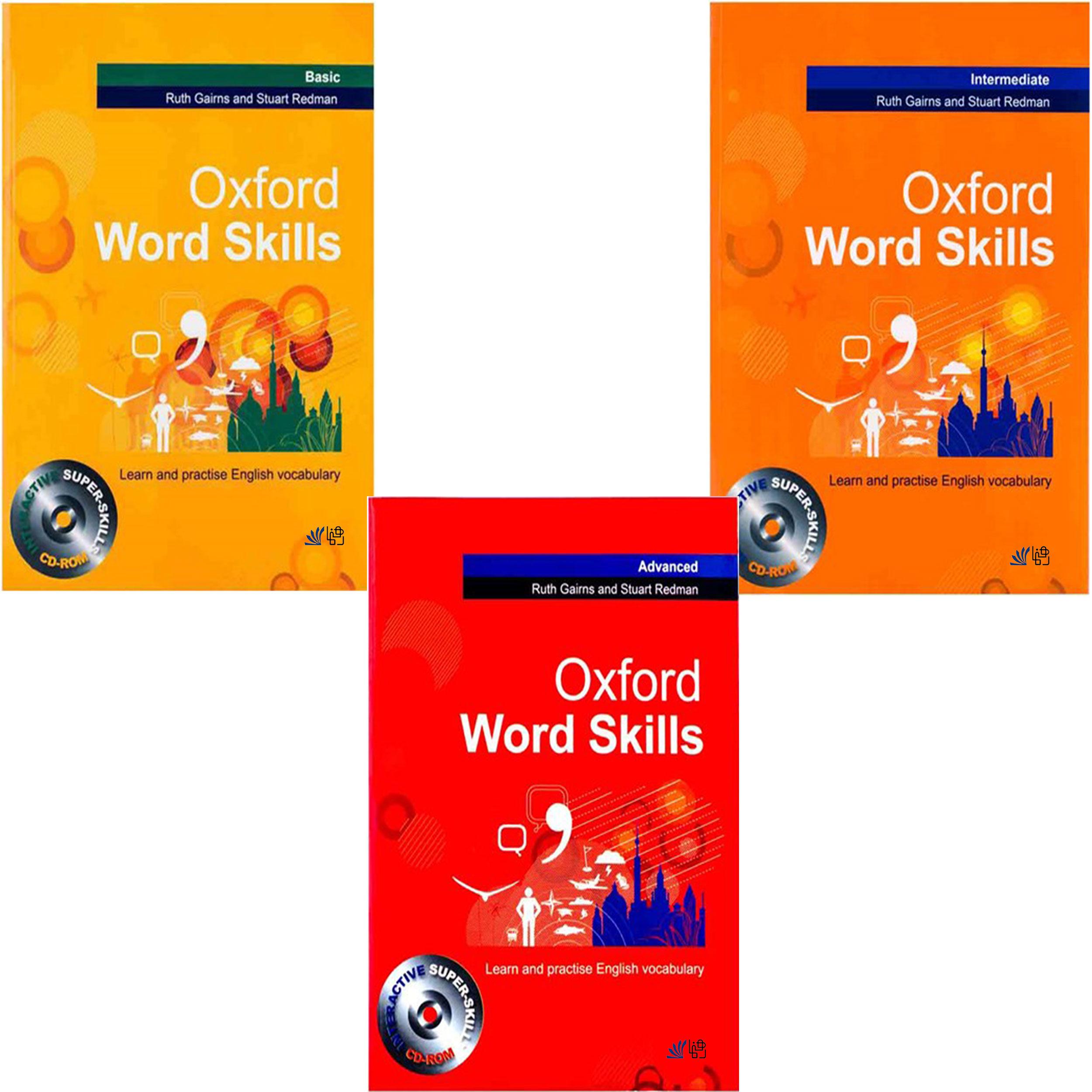 کتاب Oxford Word Skills اثر Ruth Gairns And Stuart Redman انتشارات رهنما 3 جلدی