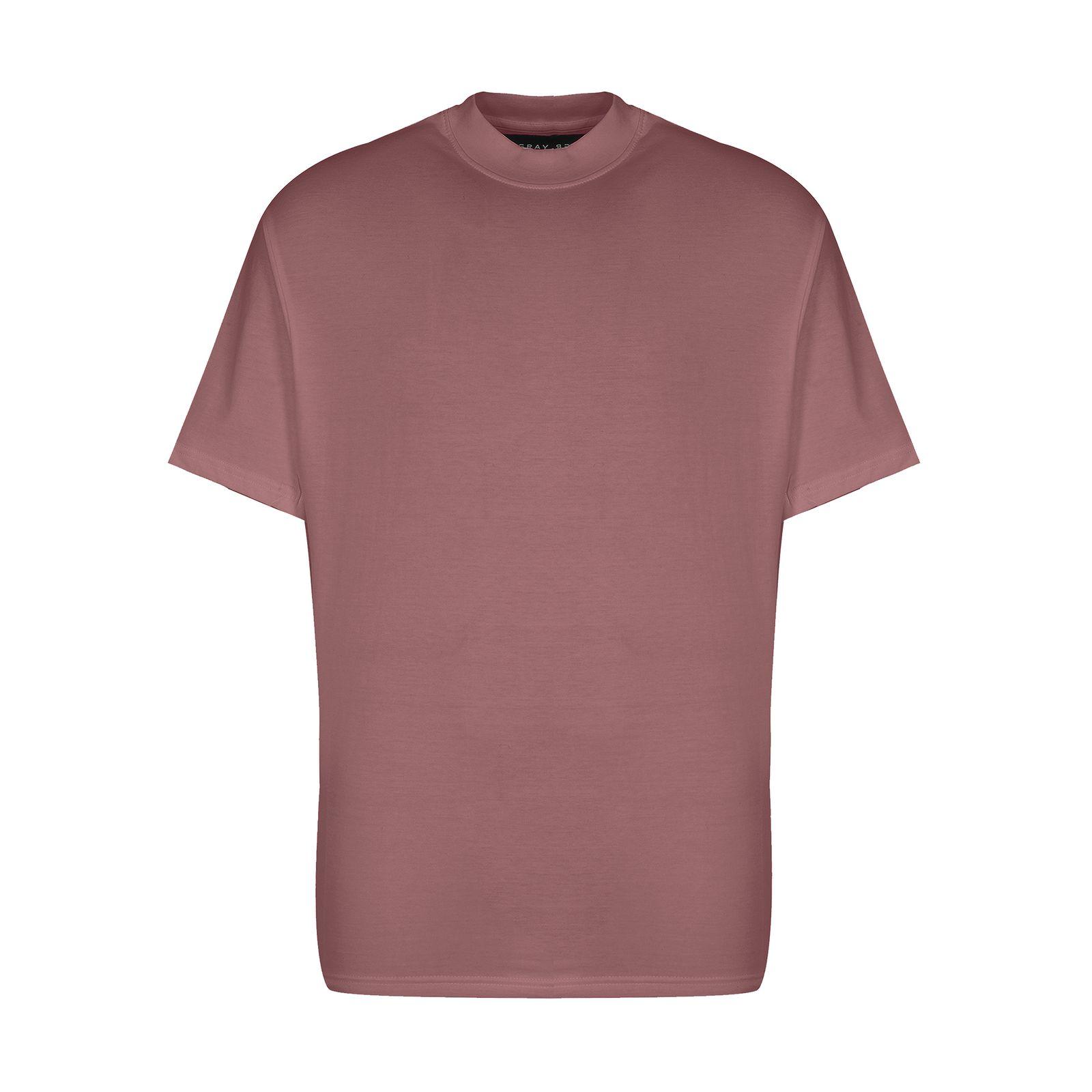 تیشرت آستین کوتاه مردانه گری مدل H36 -  - 2