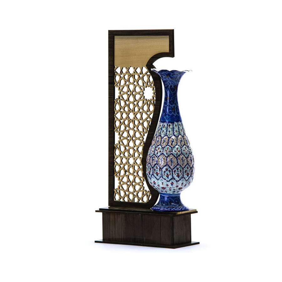 تندیس میناکاری هنرلوکس مدل گلدان f20