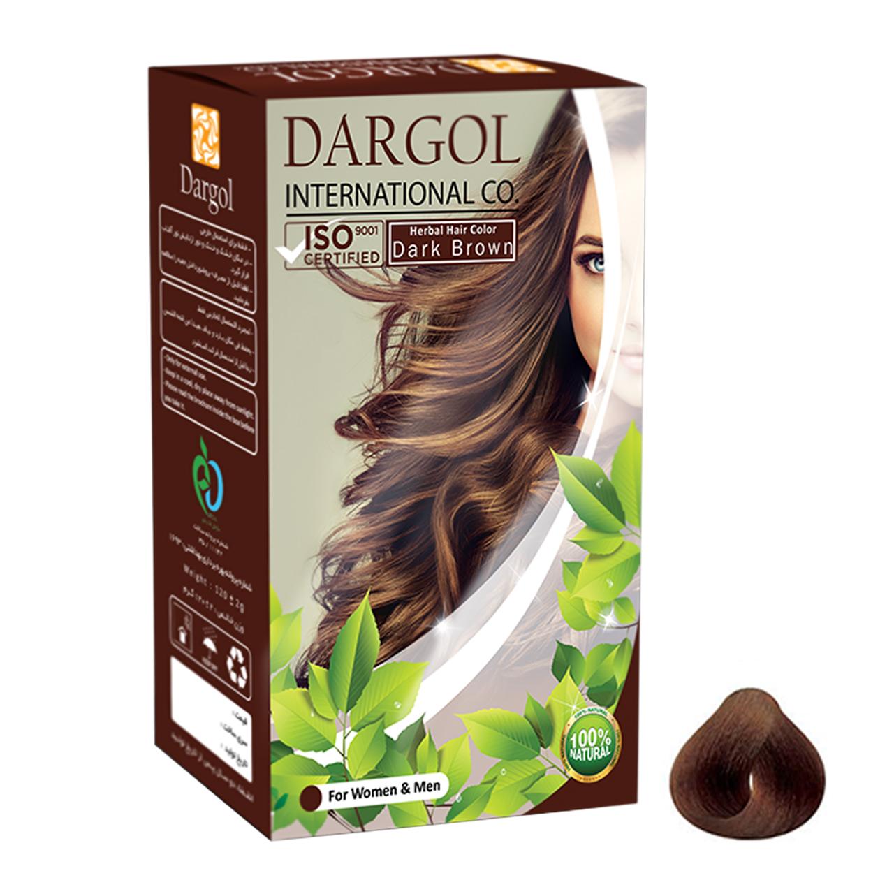 پودر رنگ مو دارگل مدل DB.1003 وزن 120 گرم رنگ قهوه ای تیره