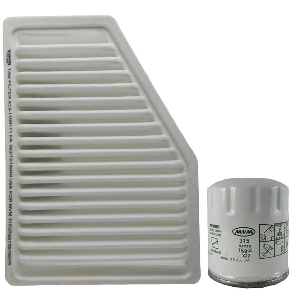 فیلتر روغن خودرو تام مدل TW712/35 مناسب برای MVM 315 به همراه فیلتر هوا