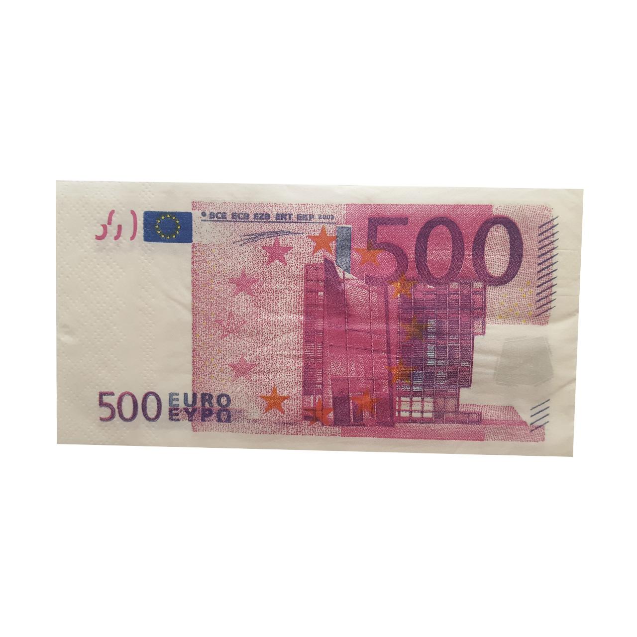 دستمال  کاغذی  جیبی  10  برگ  طرح  یورو  کد  W100