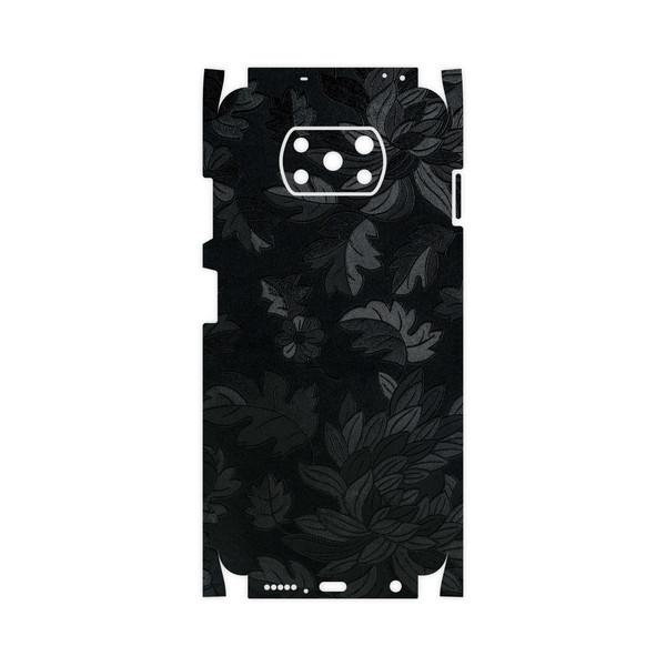 برچسب پوششی ماهوت مدل Black-Wildflower-FullSkin مناسب برای گوشی موبایل شیائومی Poco X3 NFC