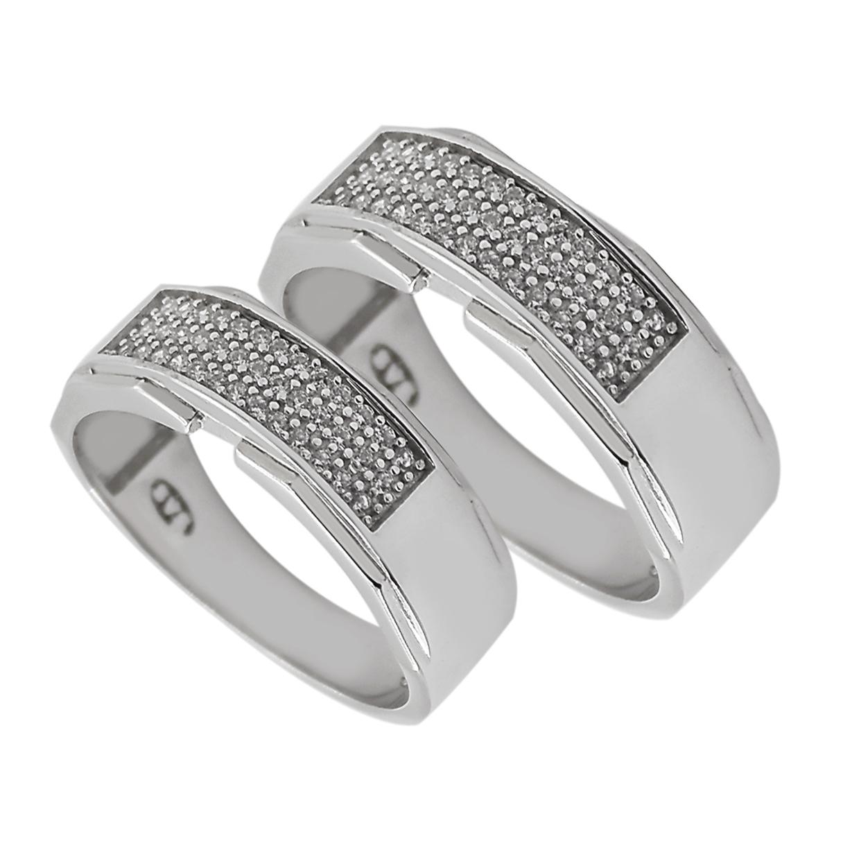 ست انگشتر نقره زنانه و مردانه مدل sl.006