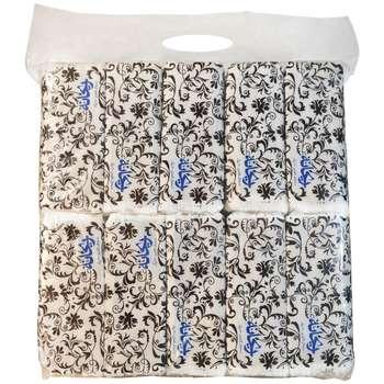 دستمال کاغذی 100 برگ ریحانه مدل Black-Rose بسته 10 عددی
