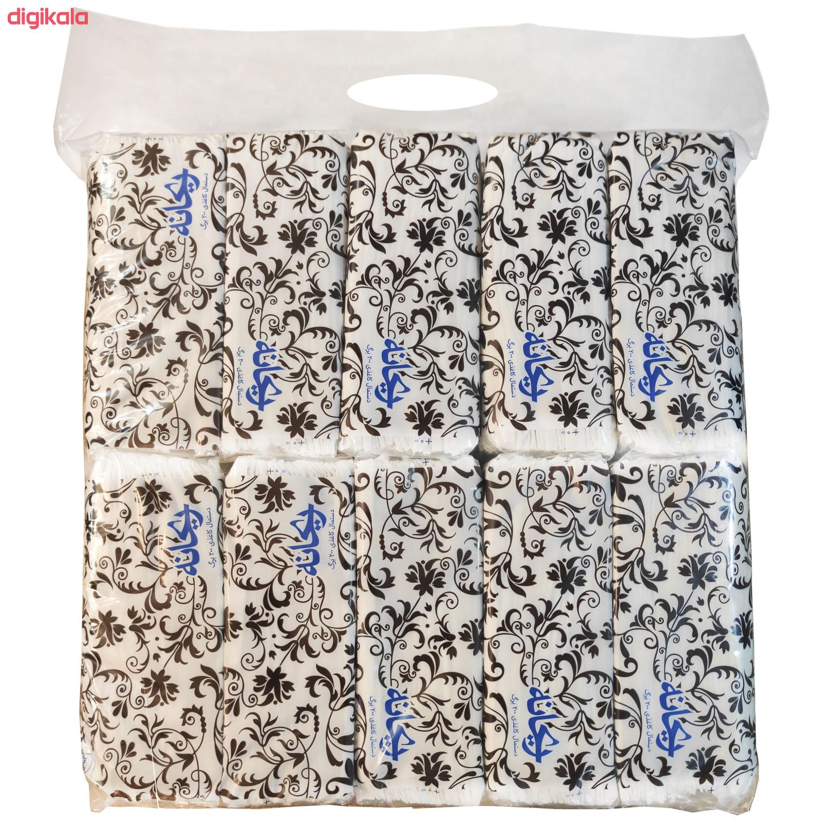 دستمال کاغذی 100 برگ ریحانه مدل Black-Rose بسته 10 عددی main 1 1