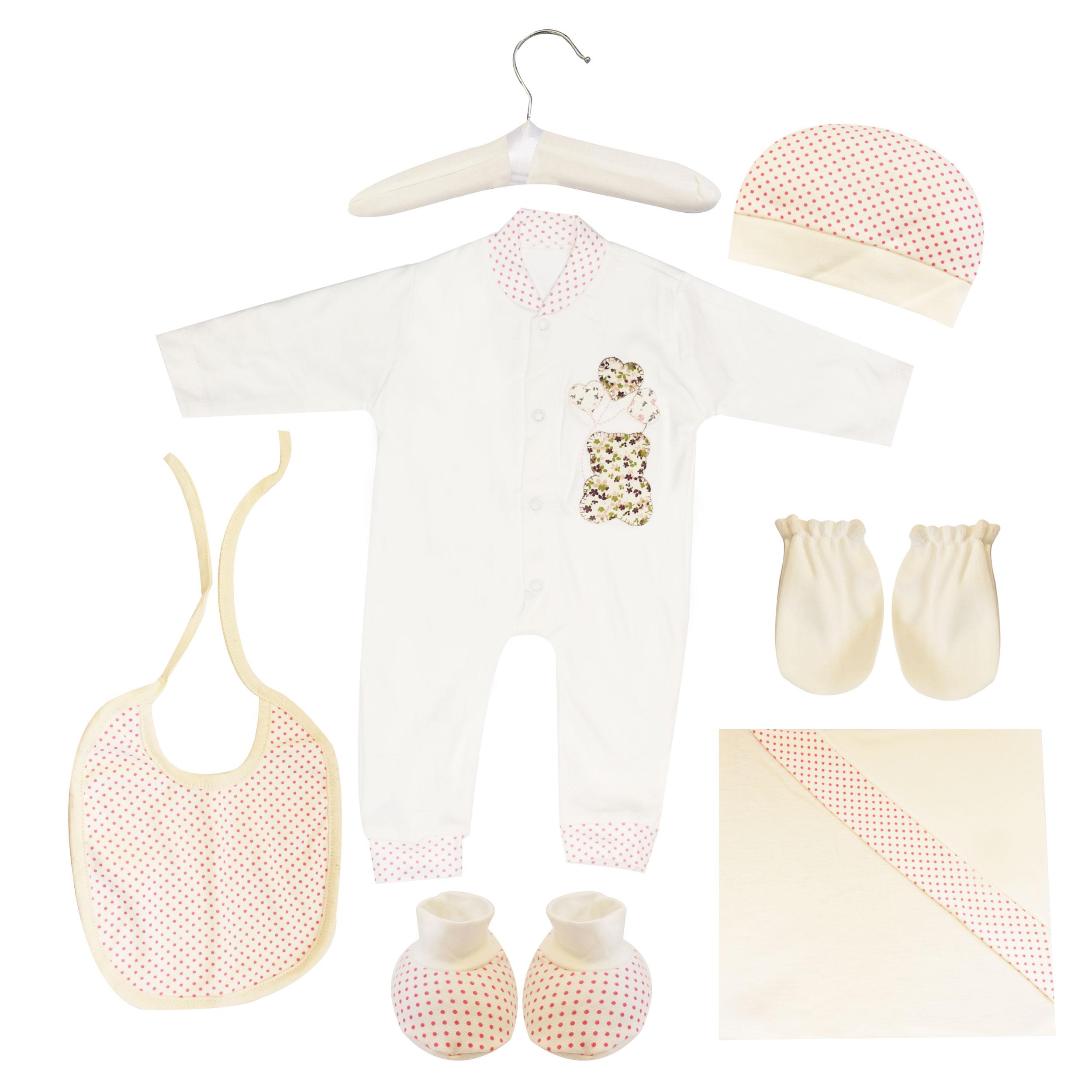 ست 7 تکه لباس نوزادی مادرکر طرح خرس کد M454.18