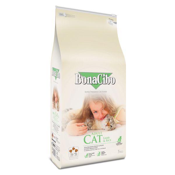 غذا خشک گربه بوناسیبو مدل lamb&rice وزن 5کیلوگرم