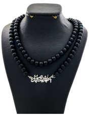 گردنبند نقره زنانه دلی جم طرح  یک جان چه بود صد جان منی کد D 83 -  - 1