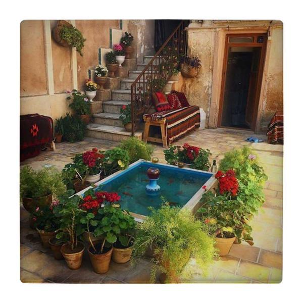 کاشی کارنیلا طرح حوض و حیاط ایرانی کد wk4730