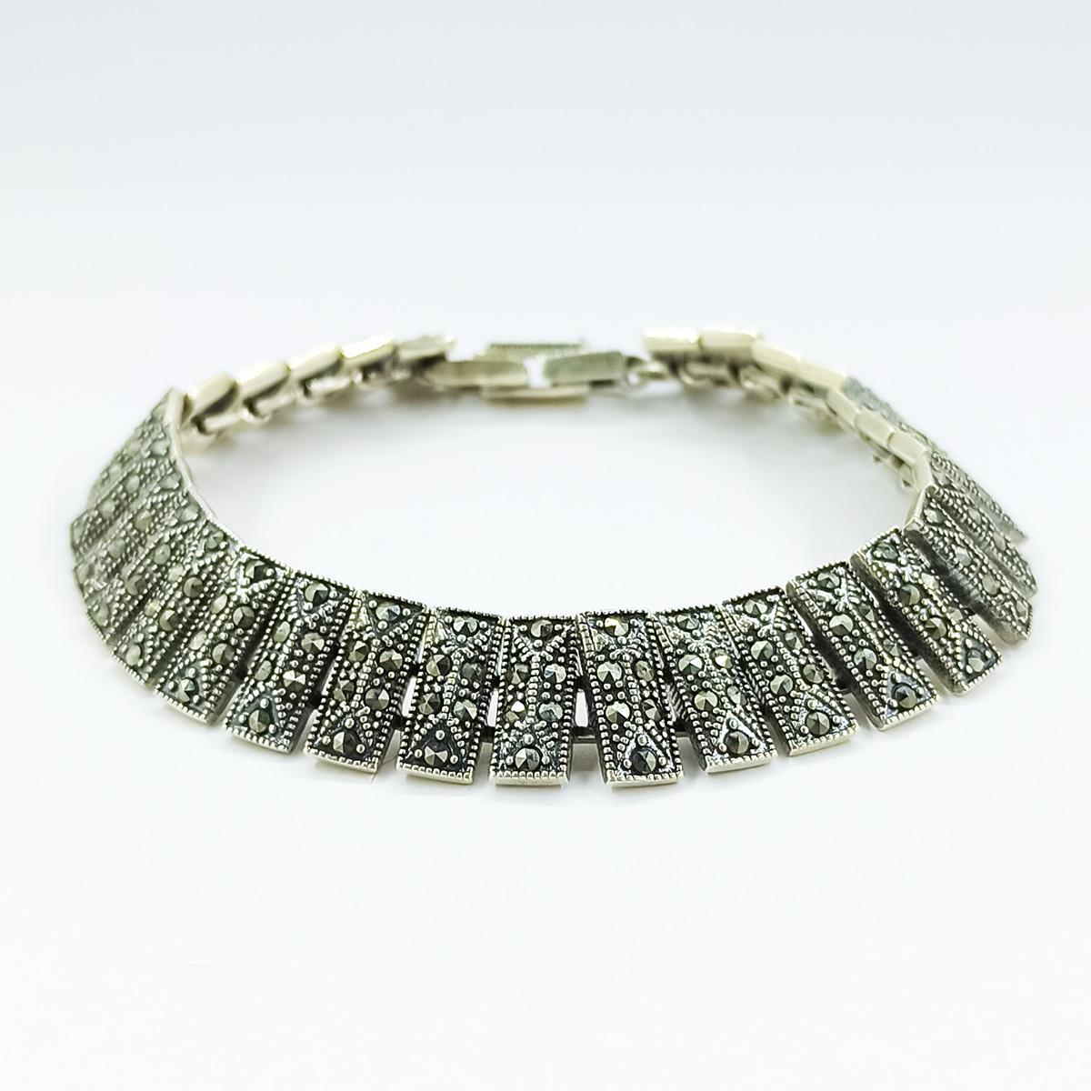 دستبند نقره زنانه سلین کالا مدل اتمی ce-As119