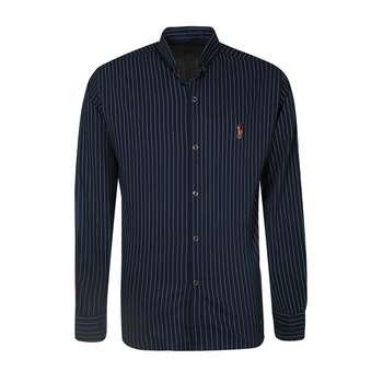 پیراهن آستین بلند مردانه مدل PVLF DIP S 9905 رنگ سرمه ای