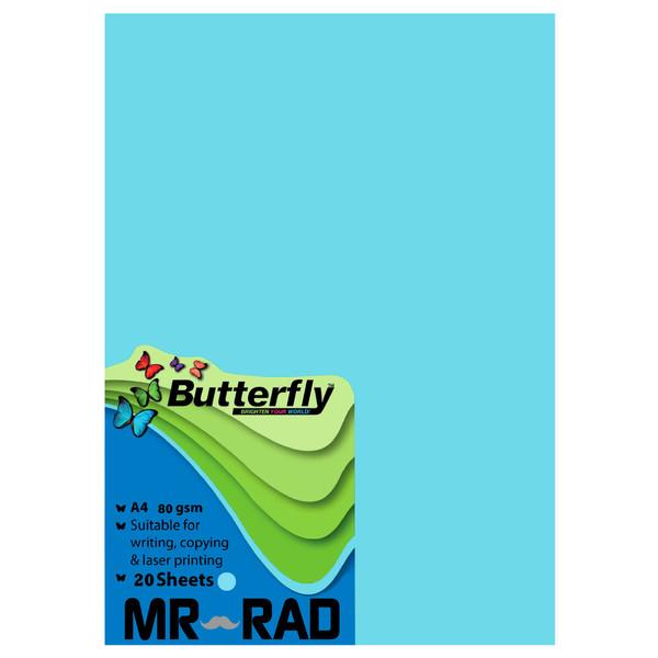 کاغذ رنگی A4  مستر راد کد BI-20 بسته 20 عددی
